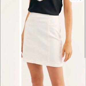 White free people panel skirt!!